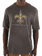 "New Orleans Saints Majestic NFL ""Hyper Stack"" Men's Premium Slub T-Shirt"