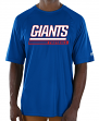 "New York Giants Majestic NFL ""Total Fanfare"" Men's S/S Performance Shirt"