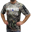"""New England Patriots Majestic NFL """"In The Woods"""" Men's Camo Short Sleeve T-Shirt"""