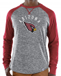 Arizona Cardinals Majestic NFL Full Out Blitz Men's Long Sleeve Gray Slub Shirt
