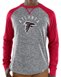"Atlanta Falcons Majestic NFL ""Full Out Blitz"" Men's Long Sleeve Gray Slub Shirt"
