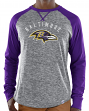 "Baltimore Ravens Majestic NFL ""Full Out Blitz"" Men's Long Sleeve Gray Slub Shirt"