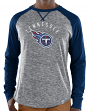 "Tennessee Titans Majestic NFL ""Full Out Blitz"" Men's Long Sleeve Gray Slub Shirt"