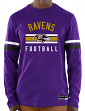 "Baltimore Ravens Majestic NFL ""Full Strike"" Men's Long Sleeve Crew Shirt"