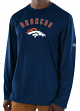 "Denver Broncos Majestic NFL ""Total Fanfare"" Men's L/S Performance Shirt"