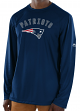 "New England Patriots Majestic NFL ""Total Fanfare"" Men's L/S Performance Shirt"