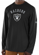 "Oakland Raiders Majestic NFL ""Total Fanfare"" Men's L/S Performance Shirt"