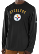 "Pittsburgh Steelers Majestic NFL ""Total Fanfare"" Men's L/S Performance Shirt"