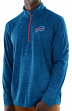 "Buffalo Bills Majestic NFL ""Play to Win"" 1/2 Zip Mock Neck Pullover Shirt"