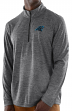 "Carolina Panthers Majestic NFL ""Play to Win"" 1/2 Zip Mock Neck Pullover Shirt"