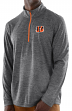 "Cincinnati Bengals Majestic NFL ""Play to Win"" 1/2 Zip Mock Neck Pullover Shirt"