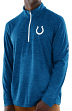"""Indianapolis Colts Majestic NFL """"Play to Win"""" 1/2 Zip Mock Neck Pullover Shirt"""
