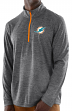 "Miami Dolphins Majestic NFL ""Play to Win"" 1/2 Zip Mock Neck Pullover Shirt"