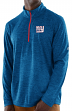 "New York Giants Majestic NFL ""Play to Win"" 1/2 Zip Mock Neck Pullover Shirt"