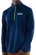 "Seattle Seahawks Majestic NFL ""Play to Win"" 1/2 Zip Mock Neck Pullover Shirt"