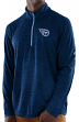 "Tennessee Titans Majestic NFL ""Play to Win"" 1/2 Zip Mock Neck Pullover Shirt"