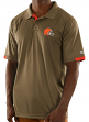 "Cleveland Browns Majestic NFL ""Club Level"" Men's Short Sleeve Polo Shirt"