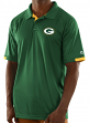"Green Bay Packers Majestic NFL ""Club Level"" Men's Short Sleeve Polo Shirt"