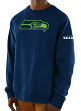 "Seattle Seahawks Majestic NFL ""Legendary"" Men's Pullover Crew Sweatshirt"