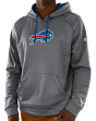 "Buffalo Bills Majestic NFL ""Armor 3"" Men's Pullover Hooded Sweatshirt - Gray"
