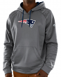 "New England Patriots Majestic ""Armor 3"" Men's Pullover Hooded Sweatshirt - Gray"