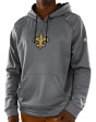 New Orleans Saints Majestic NFL Armor 3 Men's Pullover Hooded Sweatshirt - Gray