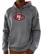 San Francisco 49ers Majestic NFL Armor 3 Men's Pullover Hooded Sweatshirt - Gray