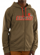 "Cleveland Browns Majestic NFL ""Game Elite 2"" Men's Full Zip Hooded Sweatshirt"