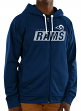 "Los Angeles Rams Majestic NFL ""Game Elite 2"" Men's Full Zip Hooded Sweatshirt"