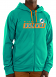 "Miami Dolphins Majestic NFL ""Game Elite 2"" Men's Full Zip Hooded Sweatshirt"