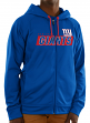 "New York Giants Majestic NFL ""Game Elite 2"" Men's Full Zip Hooded Sweatshirt"