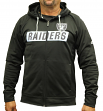 "Oakland Raiders Majestic NFL ""Game Elite 2"" Men's Full Zip Hooded Sweatshirt"