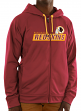 "Washington Redskins Majestic NFL ""Game Elite 2"" Men's Full Zip Hooded Sweatshirt"