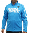 "Carolina Panthers Majestic NFL ""Teamwork"" Men's Full Zip Mock Neck Sweatshirt"