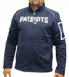 "New England Patriots Majestic NFL ""Teamwork"" Men's Full Zip Mock Neck Sweatshirt"