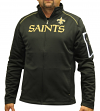 "New Orleans Saints Majestic NFL ""Teamwork"" Men's Full Zip Mock Neck Sweatshirt"