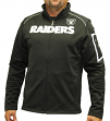 "Oakland Raiders Majestic NFL ""Teamwork"" Men's Full Zip Mock Neck Sweatshirt"