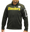 "Pittsburgh Steelers Majestic NFL ""Teamwork"" Men's Full Zip Mock Neck Sweatshirt"
