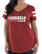 "Arizona Cardinals Women's Majestic NFL ""Day Game"" V-neck Fashion Top Shirt"