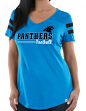 "Carolina Panthers Women's Majestic NFL ""Day Game"" V-neck Fashion Top Shirt"
