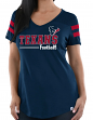 "Houston Texans Women's Majestic NFL ""Day Game"" V-neck Fashion Top Shirt"