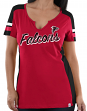 "Atlanta Falcons Women's Majestic NFL ""Pride Playing 2"" V-notch Fashion Top Shirt"