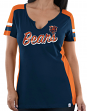 "Chicago Bears Women's Majestic NFL ""Pride Playing 2"" V-notch Fashion Top Shirt"
