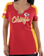 "Kansas City Chiefs Women's Majestic NFL ""Pride Playing 2"" V-notch Fashion Shirt"