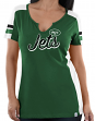 "New York Jets Women's Majestic NFL ""Pride Playing 2"" V-notch Fashion Top Shirt"