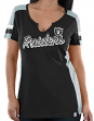 "Oakland Raiders Women's Majestic NFL ""Pride Playing 2"" V-notch Fashion Top Shirt"