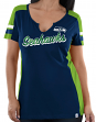 Seattle Seahawks Women's Majestic NFL Pride Playing 2 V-notch Fashion Top Shirt