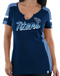 Tennessee Titans Women's Majestic NFL Pride Playing 2 V-notch Fashion Top Shirt