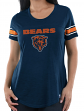 "Chicago Bears Women's Majestic NFL ""Tailgate"" Scoop Neck Fashion Top Shirt"