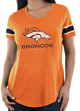 "Denver Broncos Women's Majestic NFL ""Tailgate"" Scoop Neck Fashion Top Shirt"